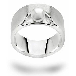 Bastian 12606 Inverun Silber rhodiniert Ring Zuchtperle weiß