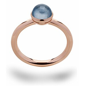 Bastian 12641 Inverun Silber Ring rosé - Topas London Blue - 72324