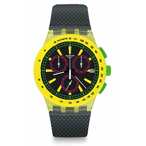 Swatch Uhr SUSJ402 THE SWATCH VIBE New Chrono Plastic Yel-Lol - 72455