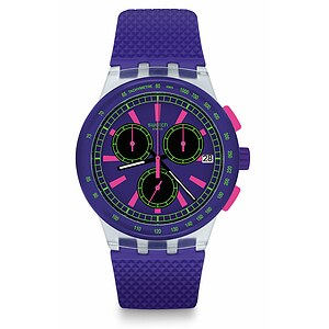 Swatch Uhr SUSK400 THE SWATCH VIBE New Chrono Plastic Purpl-Lol - 72456