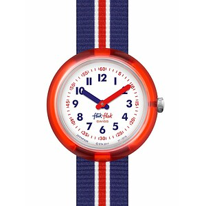 Flik Flak Uhren-Serie FPNP026 PLAY IT Kinderuhr Power Time (5+) Red Band - 72487