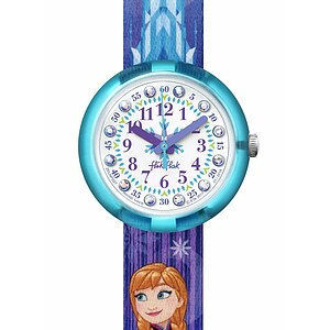 Flik Flak Uhren-Serie FLNP027 FRIENDS & HEROES Kinderuhr Girls (5+) Disney Frozen Elsa & Anna