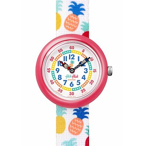 Flik Flak Uhren-Serie FBNP110 TROPICAL Kinderuhr Story Time Girls (3+) Nananas - 72550