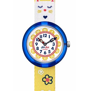 Flik Flak Uhren-Serie FBNP114 COLOR EXPLOSION Kinderuhr Story Time Girls (3+) Jumping Cat - 72618