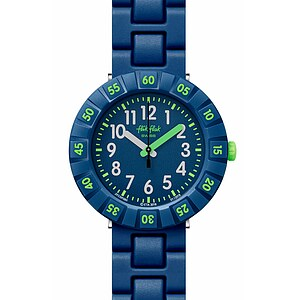 Flik Flak Uhren-Serie FCSP086 COLOR BLAST Kinderuhr Power Time (7+) Solo Dark Blue - 72656