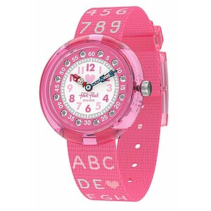Flik Flak Uhren-Serie FBNP133 GOING TO SCHOOL Kinderuhr Power Time (5+) Pink AB34 - 72721