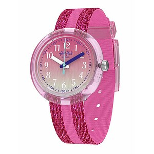 Flik Flak Uhren-Serie FPNP053 FUTURISTIC Kinderuhr Power Time Girls (5+) Pink Sparkle - 72849