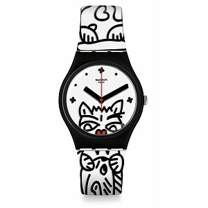 Swatch Uhr GB322 I LOVE YOUR FOLK Gent Comicat - 72860