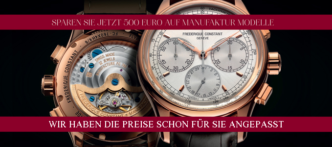 Frederique Constant - Summer Sale Manufacture Promotion